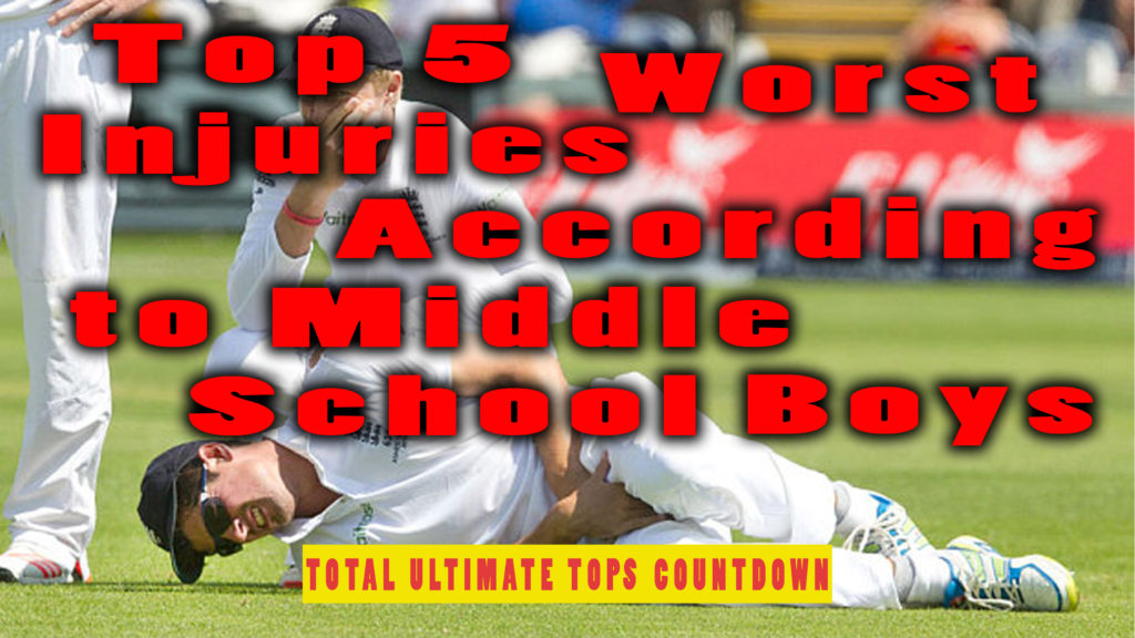 Top 5 Worst Injuries According to Middle School Boys